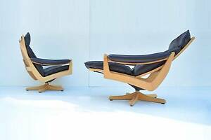 Galvano LABELS Norwegian Danish Vatne Recliner LEATHER Chair Narangba Caboolture Area Preview