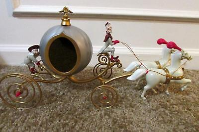 Rare VTG Mr Christmas Disney Princess CINDERELLA PUMPKIN CARRIAGE Horses Lights