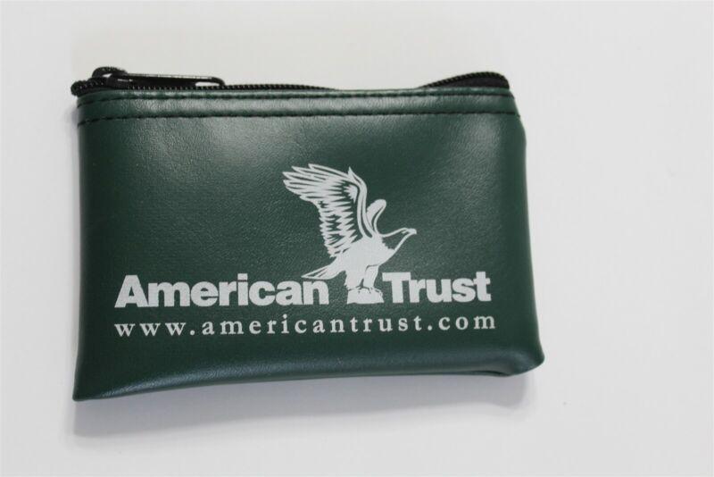 American Trust & Savings Bank Miniature Bank Bag Coin Change Purse Dubuque Iowa