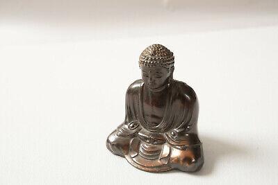 Small Cast Metal Buddha Bronze Finish 2.75