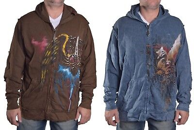 Brad Butter Men's $118 Full Zip Gothic Hoodie Jacket Choose Style Size & (Butter Hoody)