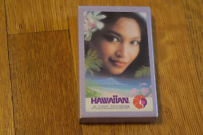 Vintage Hawaiian Airlines Playing Cards Old Pualani Logo   Beautiful Woman New