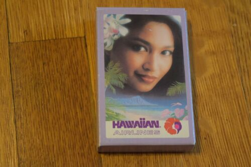 Vintage Hawaiian Airlines Playing Cards Old Pualani Logo & Beautiful Woman NEW!