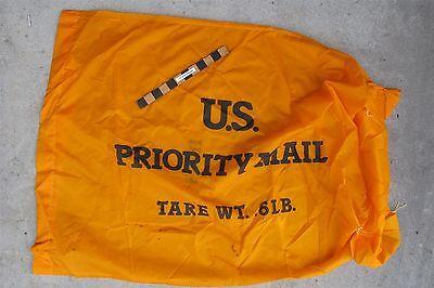 Us Post Office Yellow Nylon Priority Mail Bag Ebay Seller Tool Transport Nice
