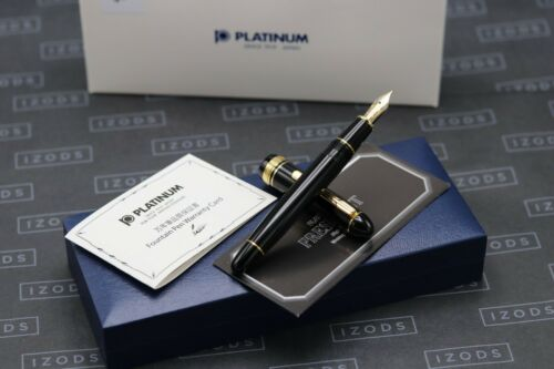 Platinum President Black Gold Trim Fountain Pen - EF Nib