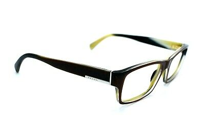 PRADA Eyeglasses Men VPR06O EAP-1O1 Browm/Shell Full Rim Women 53[]17 145 #294