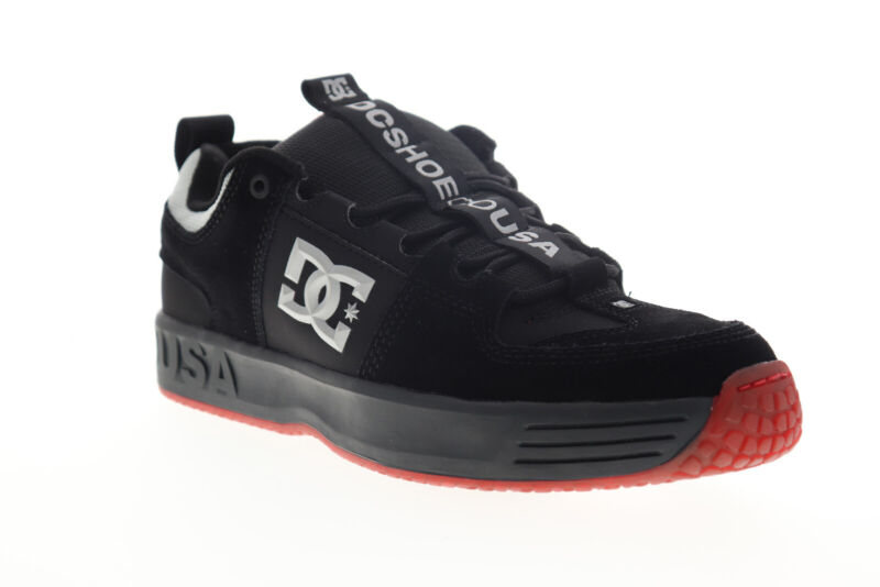 DC Lynx OG ADYS100425 Mens Black Suede Skate Sneakers Shoes 6.5