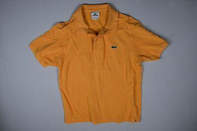 Lacoste Mens Orange Cotton Casual Classic Polo Shirt Size 4 M
