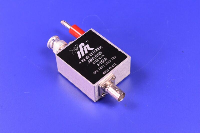IFR Aeroflex A-7550 Spectrum Analyzer +20 dB External Amplifier Module OPT 3