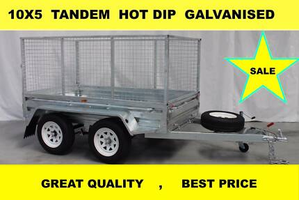 10x5 TANDEM HOT DIP GALVANISED TRAILER