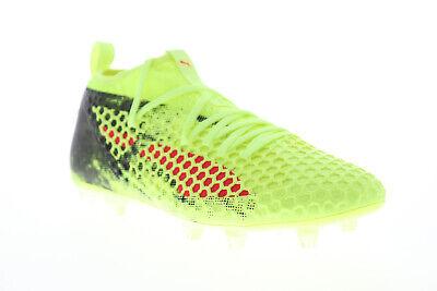 Puma Future 18.2 Netfit FG AG 10432101 Mens Green Athletic Soccer Cleats Shoes