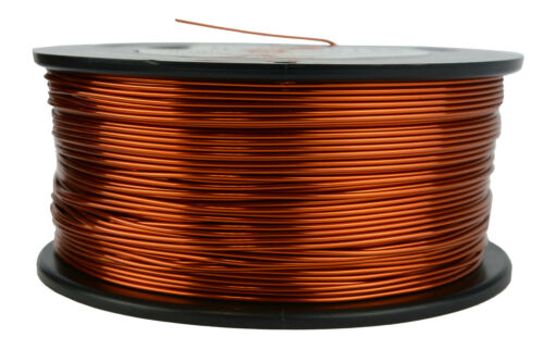 TEMCo 18 AWG Gauge Enameled Copper Magnet Wire 200C 1.5lb 298ft Coil Winding