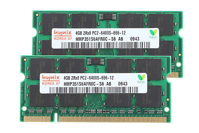 Hynix 8GB 2x 4GB Laptop Speicher 2Rx8 PC2-6400S DDR2 800Mhz SO-DIMM Intel RAM
