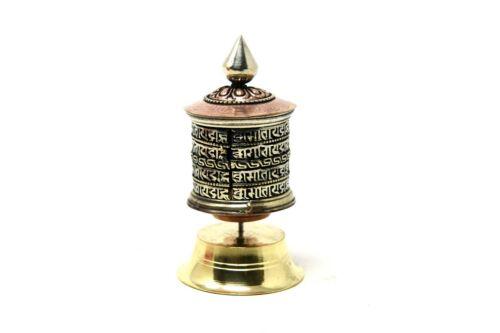 4 Inch Table top  Authentic Buddhist Mantra symbol Prayer wheel,thamel Mart