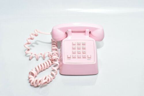 MINI PINK DESK REAL PHONE * LANDLINE HOUSE PHONE*.