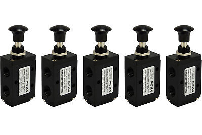 5x Hand Push Pull Pneumatic Air Control Valve 3 Port 3 Way 2 Position 14 Npt