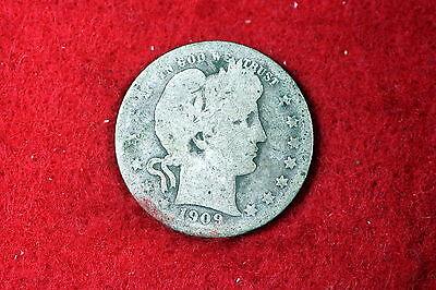ESTATE FIND 1909  Barber Quarter!! #D2949