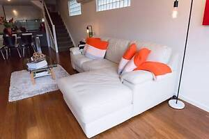 Signature Leather Modular 2 Seat Sofa & Left Hand Chaise North Sydney North Sydney Area Preview