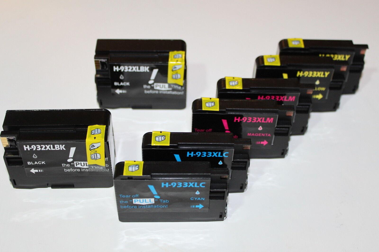 8 Ink Cartridge 932 933 Xl For Hp Officejet Printer 6100 ...