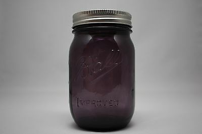PURPLE BALL IMPROVED MASON 100TH ANNIVERSARY VINTAGE STYLE CANNING PINT JAR NEW