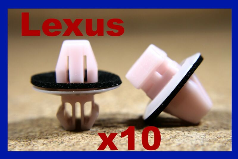 10 LEXUS plastic door card panel fascia lining trim fasteners clips