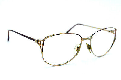Gucci Eyeglasses Women Vintage Gold Full Rim Frame Italy Metal 57[]18 135 #1292