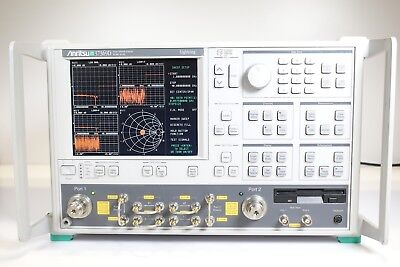 Anritsu 37369d Vector Network Analyzer - 40 Mhz To 40 Ghz Opt 15k 2a