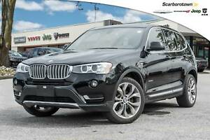 2017 BMW X3 xDrive28i+PANROOF+NAV+POWERLIFT+FRONT-BACK-SENSOR