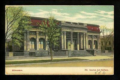 Wisconsin WI postcard Milwaukee, Layton Art Gallery Vintage 1906 ()