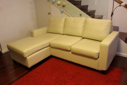 CAN DELIVER Almost New Australian Made Leather Sofabed Maylands Bayswater Area Preview