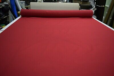 CRIMSOM RED UPHOLSTERY & HOME DECOR FABRIC 75% COTTON 25% POLY 60