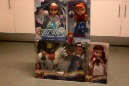 Brand new beauty and the beast dolls disney frozen dolls