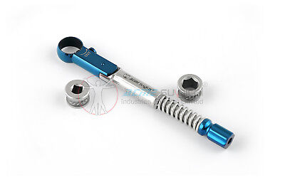 Universal Dental Implant Torque Wrench Ratchet 10-50 Ncm 6.35 Mm Hex 4.0