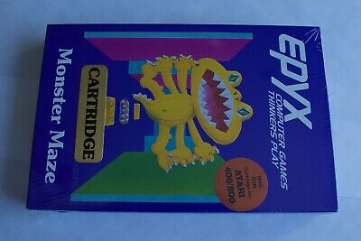 Epyx Monster Maze, Complete Boxed Sealed NIB - Atari 400/800 Computer Video Game