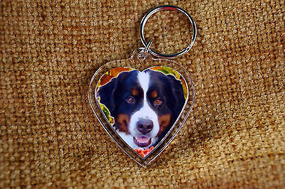 Bernese Mountain Dog Keyring Dog Key Ring Free UK Post Birthday Gift