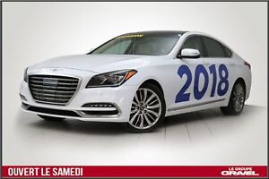 2018 Genesis G80 ULTIMATE  5.0L GPS  AWD  TOIT  HEADS UP DISPLAY