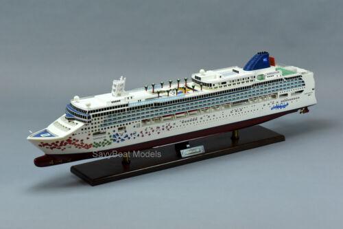 """Norwegian Gem Cruise Ship 40"""" Handmade Wooden Ship Model"""