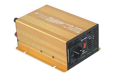 Spannungswandler Wechselrichter 600 1200 Watt 12V 230V reiner Sinus Inverter GE