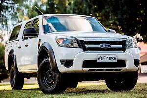 2010 Ford Ranger PK XL 4x4 Crew Cab White 5 Speed Automatic Carlisle Victoria Park Area Preview