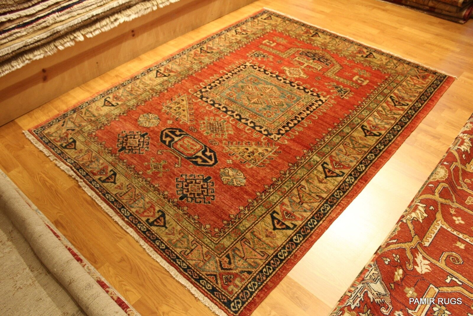 Handmade Fine Quality Caucasian Kazak Design Antique Washed 5 X 7 Prayer Rug