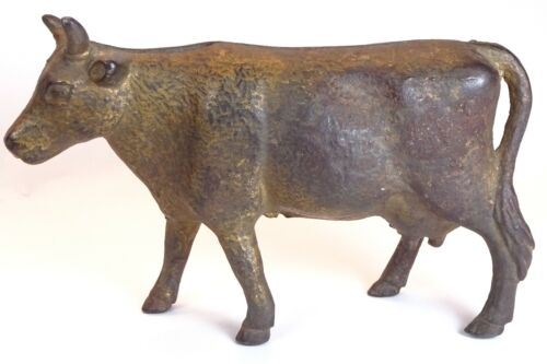 A. C. Williams Antique Cast Iron Cow Bank in Great Condition