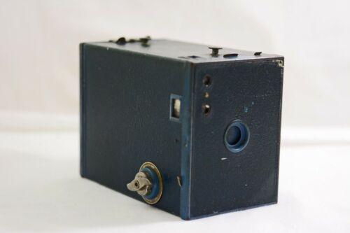 VINTAGE KODAK NO.2 BROWNIE MODEL F BLUE ALUMINUM BOX CAMERA 1901-33