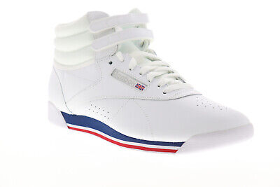 Reebok Freestyle HI CN2964 Womens White Leather High Top Sneakers Shoes 9.5