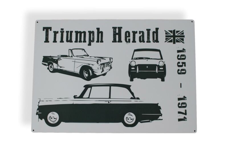 Large+Triumph+Herald+Gift+Metal+Wall+Hanging+Sign