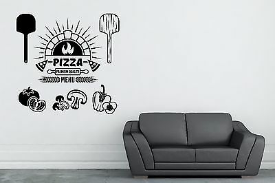 Pizza Place Wall Decal Pizza Restaurant Decor Vinyl Sticker Pizzeria Decor  - Pizzeria Decor