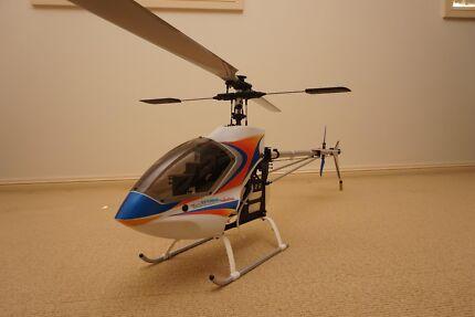 RARE Hirobo Shuttle Sceadu EVO 50 Size Nitro RC 3D Helicopter