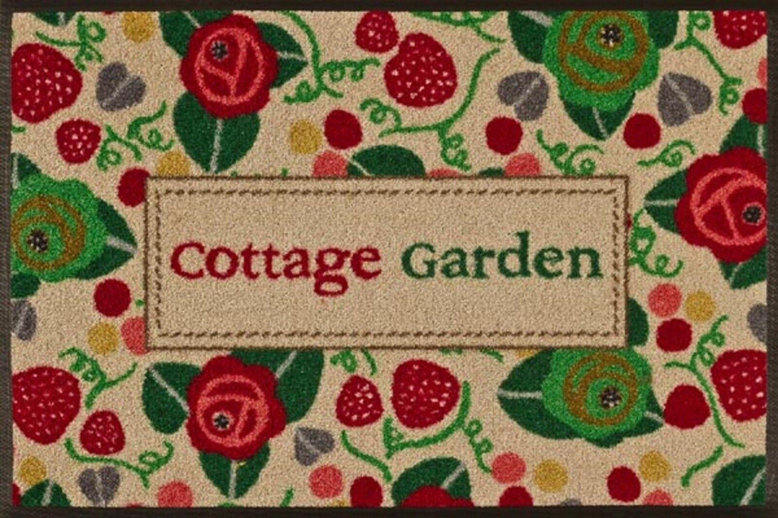 Fußmatte waschbar Garten Strawberry Fair Cottage Garden Türmatte wash+dry 50x75