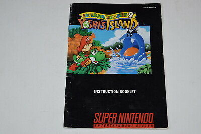 Super Mario World 2 Yoshi's Island Super Nintendo SNES Video Game Manual Only