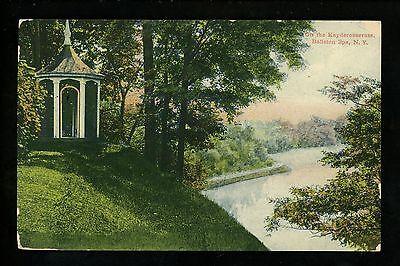 Spa Gazebo (New York NY postcard Ballston Spa Kayderosserass Creek Gazebo Park )