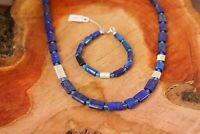 Kette Armband Lapislazuli blauer Achat echt Silber NEU Handarbeit Baden-Württemberg - Vörstetten Vorschau
